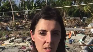 Sky's Siobhan Robbins reports from the Palu, Indonesia, which has been devastated by a tsunami.