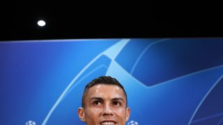 Juventus' Cristiano Ronaldo during the press conference at Old Trafford