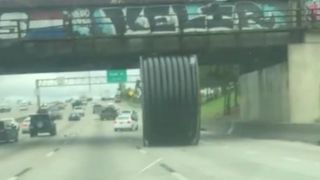 Motorists in Houston, Texas, had this unusual rolling problem to deal with