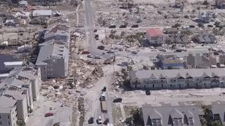 """Large parts of Florida have suffered """"unimaginable destruction"""" after the third-strongest hurricane in US history slammed into the sunshine state."""