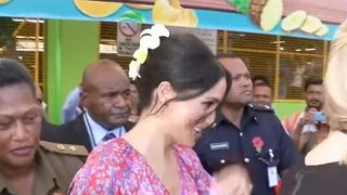 Duchess of Sussex is rushed out of market place in Fiji over security concerns