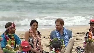 Duke and duchess of Sussex visit Bondi Beach