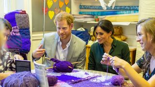 Meghan and Harry, Duke and Duchess of Sussex, on a visit to Survivors' Network in Brighton
