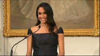 Meghan spoke of her admiration of New Zealand's early suffragettes and began her speech with a Maori greeting.