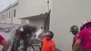 Rescue operation under way in Mexico after a building site collapsed killing several construction workers