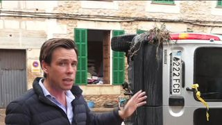 Two Britons are believed dead due to flash floods, which have caused widespread damage in the town of Sant Llorenc, Majorca.