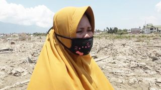 Surianit's husband was killed in the earthquake, and her house destroyed