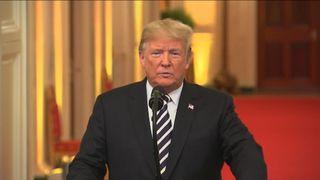 President Trump said that 'under historic scrutiny' Brett Kavanaugh was 'proven innocent'