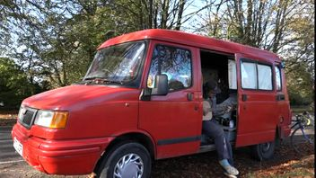 Max lives in a van because he can't afford to rent a house in Bristol.