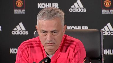 Mourinho downbeat during press conference