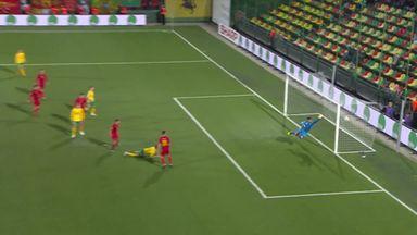 Lithuania's spectacular scissor kick!