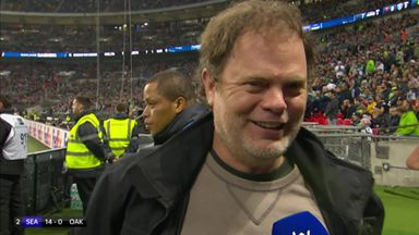 Rainn Wilson enjoying Wembley