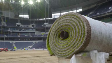 Spurs roll out new pitch