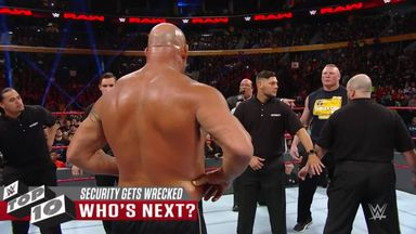 WWE Top 10: Security guards get wrecked