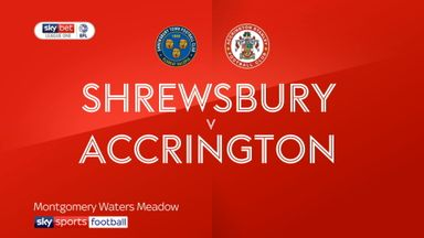 Shrewsbury 1-0 Accrington