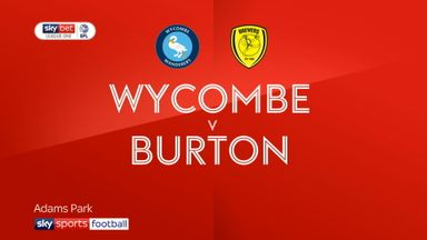 Wycombe 2-1 Burton