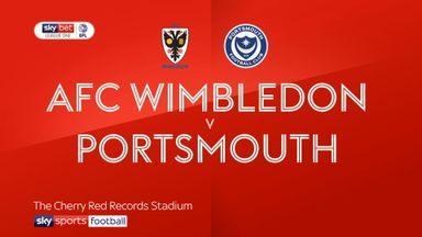 AFC Wimbledon 1-2 Portsmouth