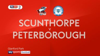 Scunthorpe 0-2 Peterborough