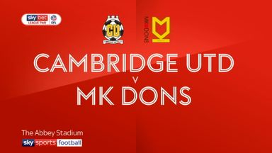 Cambridge Utd 0-1 MK Dons