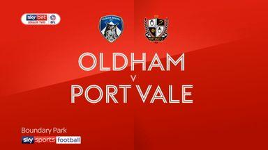 Oldham 0-1 Port Vale