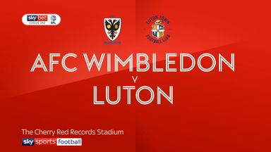 AFC Wimbledon 0-2 Luton