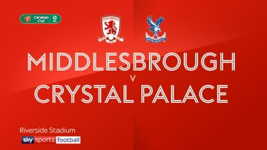 Middlesbrough 1-0 Crystal Palace