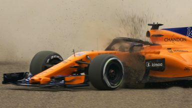 Alonso spins in P1