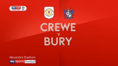 Crewe 1-1 Bury