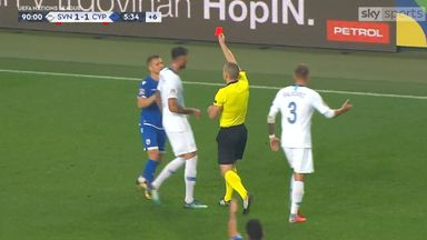 Cyprus captain's shocking red card