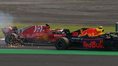 Vettel & Verstappen collide