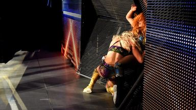 Flair spears Lynch through SmackDown set!