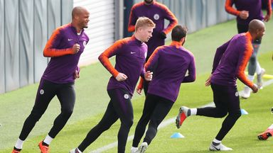 De Bruyne back in training with City