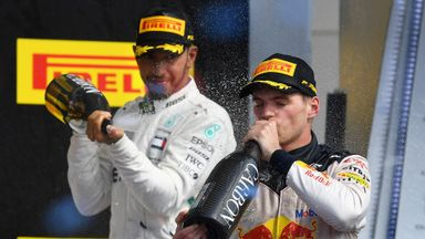 Verstappen-Hamilton presser banter