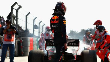 Verstappen's car breaks down