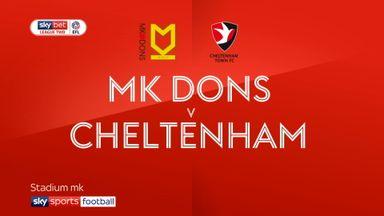 MK Dons 3-0 Cheltenham.