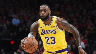 LeBron James' debut as a Laker
