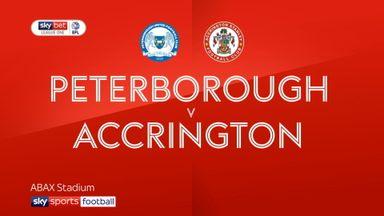 Peterborough 0-1 Accrington