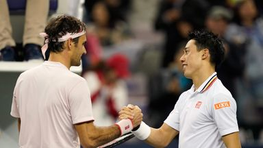 Federer v Nishikori: Highlights