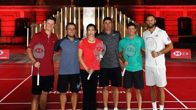 Ryder Cup rivals meet on badminton court