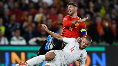 Ramos' busy night against England