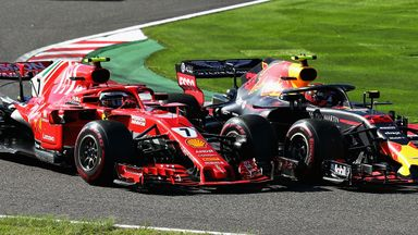 Verstappen & Raikkonen clash