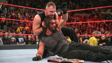 Ambrose viciously assaults Rollins