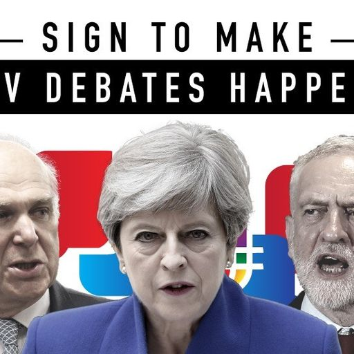 Sign here to force leaders to debate on TV