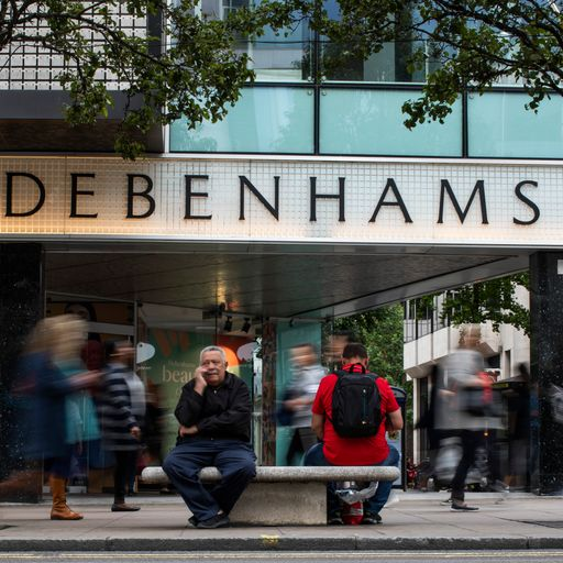 Sports Direct seeks support for £61.4m Debenhams bid