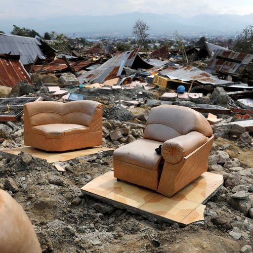 Indonesia earthquake: 'My husband's body was swallowed by the ground'