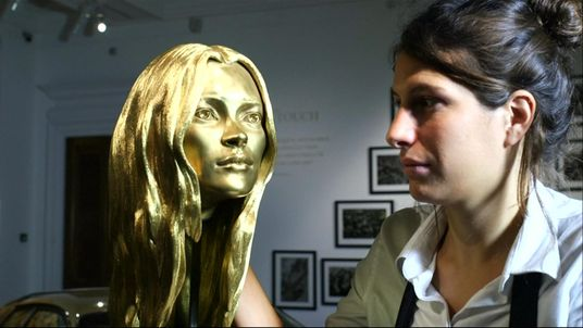 A solid gold bust of supermodel Kate Moss is part of the Midas Touch collection
