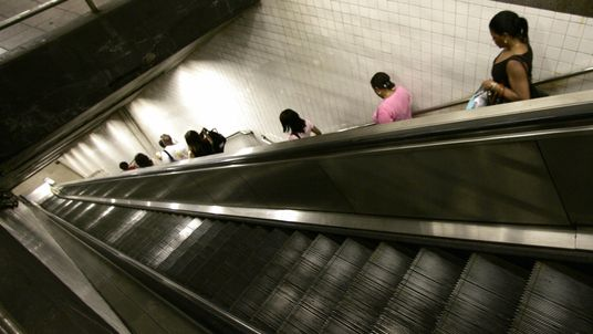 A man died when his shirt caught in an escalator on the New York subway. File pic