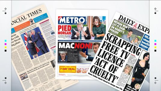 Thursday's national front pages