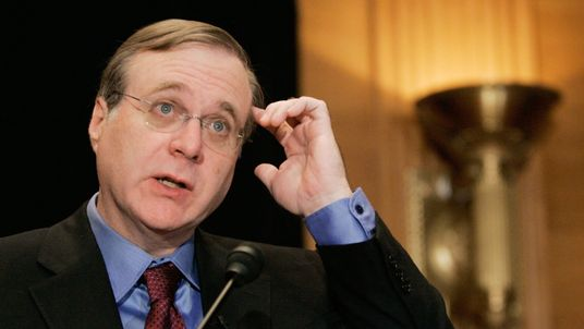 Microsoft co-founder Paul G. Allen speaks about the completion of the Allen Brain Atlas during a news conference on Capitol Hill September 26, 2006 in Washington, DC. The Allen Brain Atlas has potential to understand Neurological diseases and disorders and furthering neuroscience research.