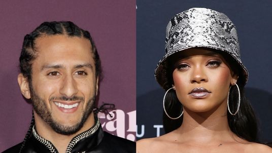 Colin Kaepernick and Rihanna